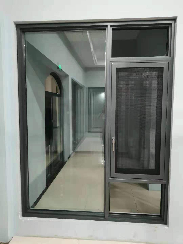 极简108双隐平开窗+金钢网